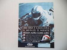 advertising Pubblicità 1991 CASCO ARAI GIGA e LUCA CADALORA