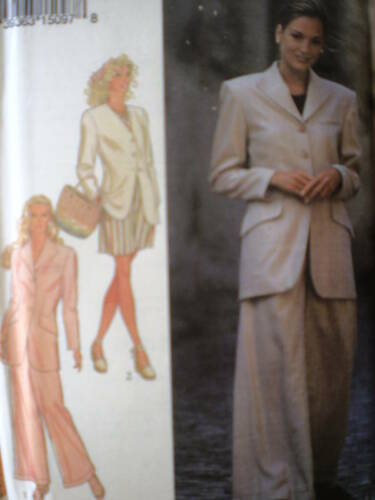 2398 UNCUT Style Sewing Pattern Misses Jacket Trousers Shorts OOP Vintage 1990/'s