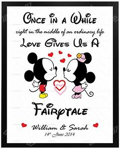Valentines Day Disney Gifts Personalised For Him Her Anniversary