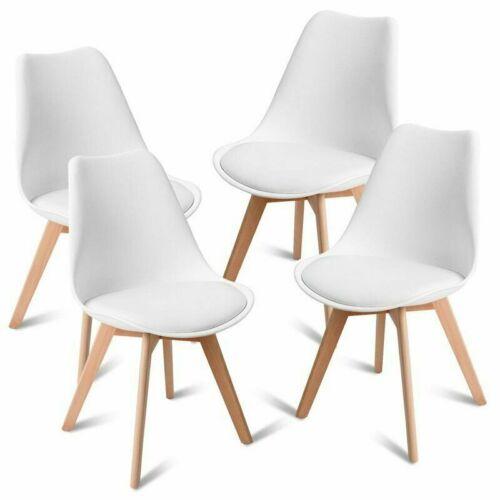 DHL 4//6//8er Set Esszimmerstuhl Retro Design Stühle Küchenstuhl Sitz Kunststoff