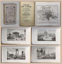 Vasi & Nibby Itineraire de Rome et de ses Environs 1857 mit Stahlstichtafeln xz
