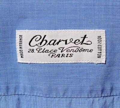 Charvet Place Vendôme Gent's 17 / 34 Light Blue Long-Sleeve Dress Shirt - France