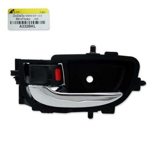 Left Inner Door Handle Black Chrome For Toyota Vios Belta Yaris Sedan 2007 2013