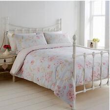 Humming Bird Ava Light Duck Egg Floral Reversible King Size Duvet Cover Bed Set