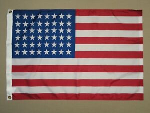 U-S-48-Star-AZ-NM-Dyed-Indoor-Outdoor-Nylon-Historical-Flag-Grommets-2-039-X-3-039
