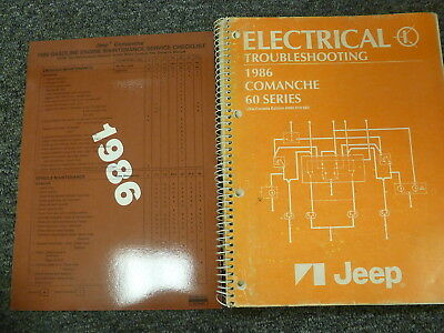 [QMVU_8575]  1986 Jeep Comanche 60 Series Electrical Wiring Diagram Troubleshooting  Manual | eBay | 1986 Jeep Comanche Wiring Diagram |  | eBay