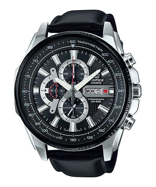 EFR-549L-1A Men's Watches Casio Edifice Chronograph 100m Brand-New Leather Band