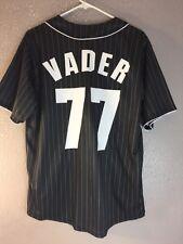 Medium AUTHENTIC STAR WARS DARK SIDE VADER 77 Baseball Jersey Shirt top Men