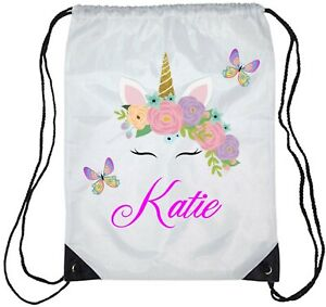 Personalised Kids Tinkerbell Gym Bag School//Swimming BOY//Girls