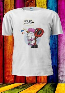 Deadpool-Unicornio-Arco-Iris-es-tan-Fluffy-gracioso-Camiseta-Unisex-Hombres-Mujeres-925