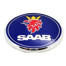 Saab Bonnet Front Hood Badge Emblem Blue 93 9-3 95 9-5 2003-2010 BRAND NEW 3 pin