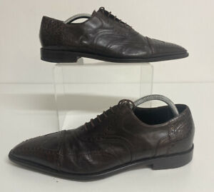 cesare-paciotti-Brown-Leather-Shoes-Size-41-5-Uk-7-5-Mens-Lace-Up-Brogues