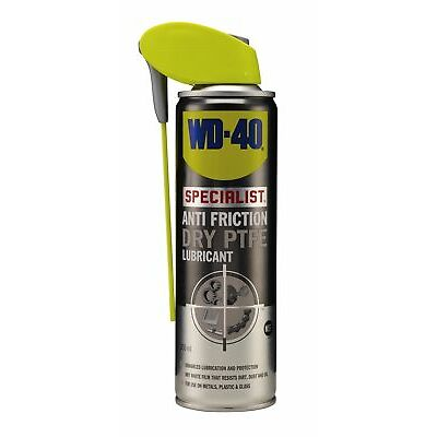 WD-40 44415 Specialist Anti Friction Dry PTFE Lubricant 250ml Smart Straw Garage