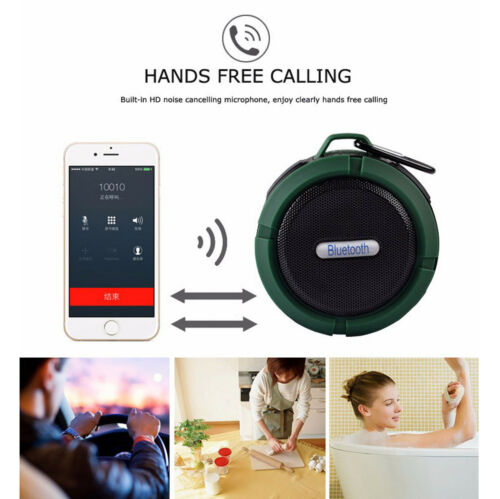 C6 Waterproof Handsfree Mic Speaker Suction Chuck Shower Car Wireless Bluetooth