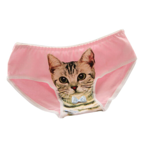 Underwear Women Girls Pink Cute Panties Briefs Lingerie Intimates Cotton Ladies