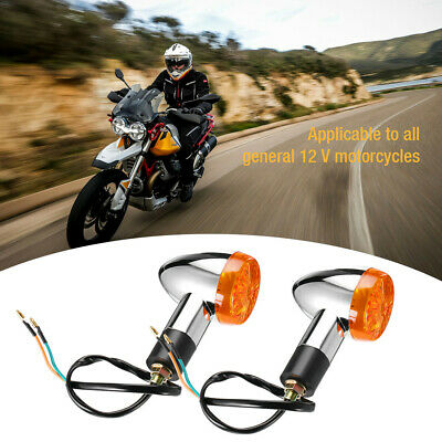 Universal Motorcycle 12 LED Turn Signal Indicators Blinker Amber Light 2pcs