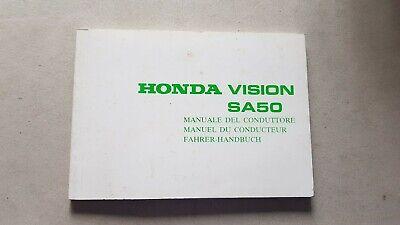 Ambizioso Honda Scooter Sa 50 Vision Manuale Uso Originale Testo Italiano Sconti