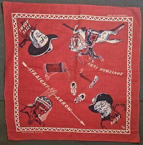 Vintage 1949 Straight Arrow Bandana Premium - National Biscuit Co. Handkerchief