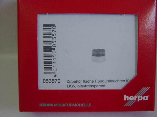 Herpa 053570 20 flache Rundumleuchten für LKW blau transparent 1:87 Neu
