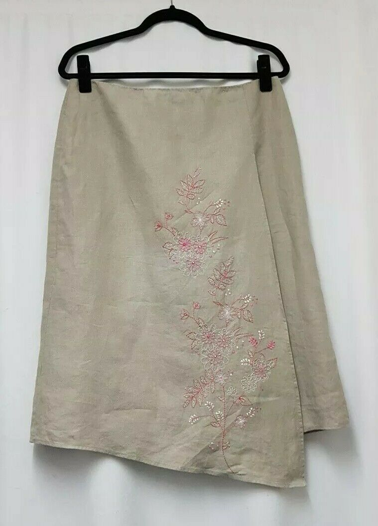Next Stone Wrap Style Skirt Größe 14 Embroiderot Skirt Skirt Skirt Embellished Skirt - D9 | Produktqualität  ecbbcb