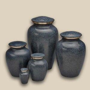 Classic Evening Blue Pet Brass Cremation Urns