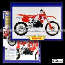 #102.07 Fiche Moto HONDA CR 500 R (CR500R 500R) 1992 Trail Bike Motorcycle Card