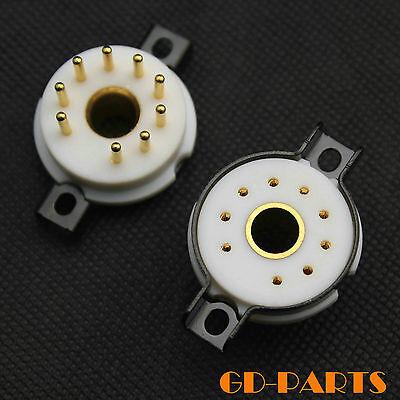 High end Teflon Magnoval 9 pin Electron Tube socket WE34 WE429 8233 6S45P WE418A