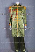 The Beatles Sgt Pepper Costume John Winston Lennon Costume Green Suit Cosplay