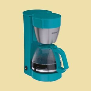 Cloer-Glaskrug-Kaffeemaschine-5017-3-tuerkis-Edelstahl