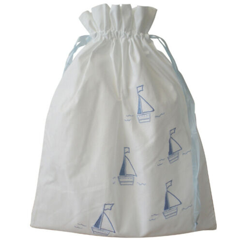 Personalised Baby Shower Birth Boat Gift Set  Cot tidy Toy bag Hanger Flannel