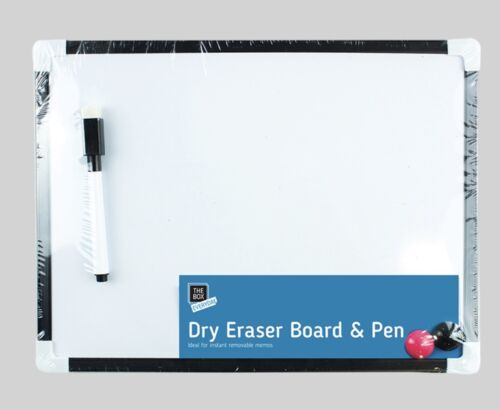 2 Magnets 4pcs Set 29.5cm White Board /& Pen Office Notice Board Kids Play