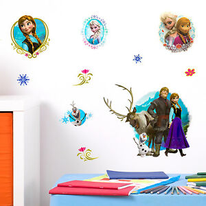 disney 3d frozen kids children babies nursery décor wall stickers uk