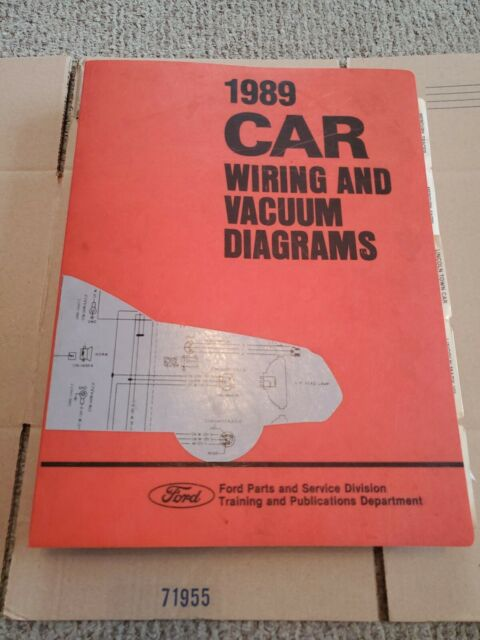 1989 Ford Car Wiring and Vacuum Diagrams Service Manual ...