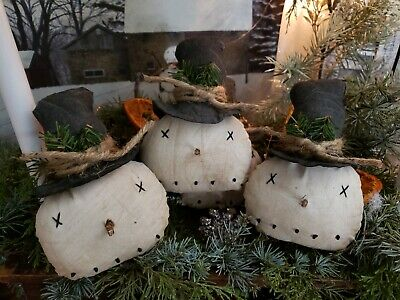 Primitive Handmade Mitten Ornies Set Of 6 Measures 5 Inches Christmas Ornaments