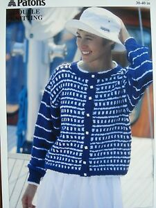 Patons 5375 Knitting Pattern Double Knit DK Ladies Summer Cardigan Jacket Hat