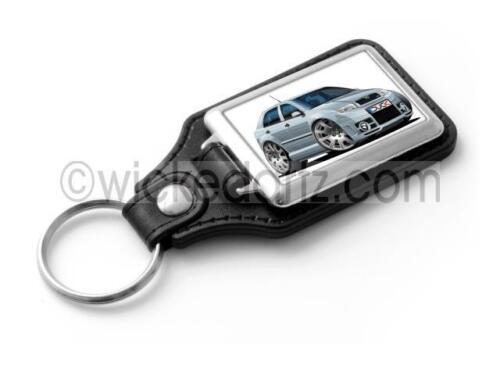 RetroArtz Cartoon Car Skoda Fabia MK1 vRS in Silver Classic Key Ring