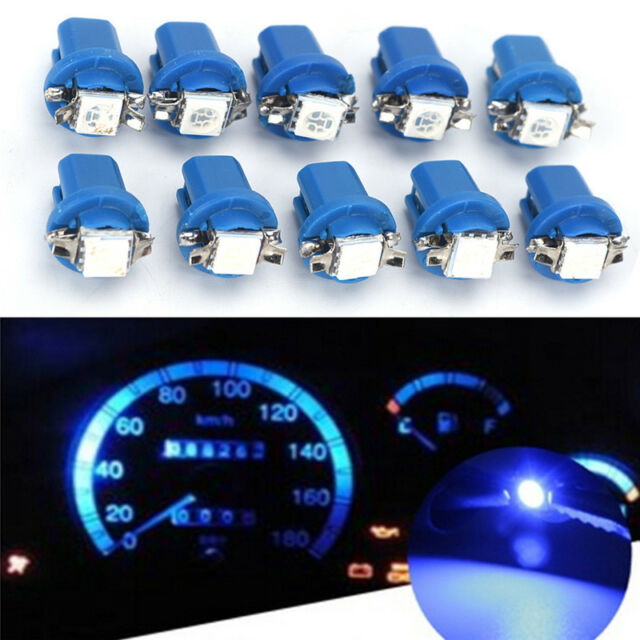 10X T5 B8.5D Gauge LED Car Dashboard Side Interior Dash Lights Bulbs IndicatoBSC