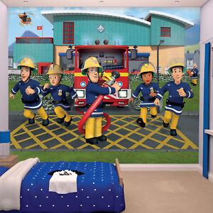 Details zu Feuerwehrmann Sam Fototapete Tapete Kinderzimmer Feuerwehr  Kinder Wandbild Wand