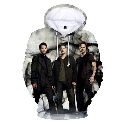 Supernatural Men Women 3D Print Hoodie Sweater Sweatshirt Hooded Pullover Coat