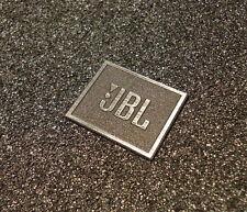 JBL Logo Emblem Badge Brushed Aluminum Adhesive 28 X 23 Mm 239