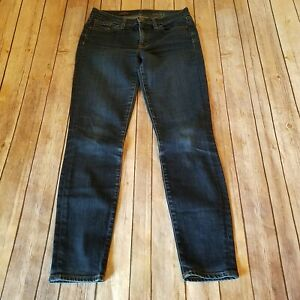 J-Crew-Size-27-Mid-Rise-Toothpick-Stretch-Denim-Jeans-Skinny-Womens