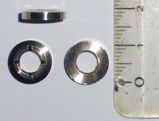 10 écrous de façade décor pour interrupteur diam 6mm  NOS Fabrication années 70