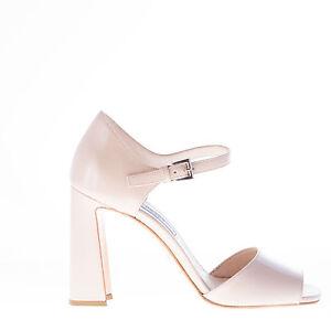 Prada Shoes Women Caviglia Sandalo Vernice Beige Cinturino Scarpe Con In Donna qFrwxEFt