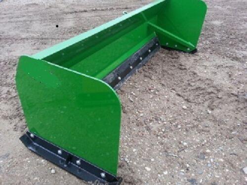 "NEW 72/"" 6 SNOW BOX PUSHER PLOW BLADE For JOHN DEERE TRACTOR ALSO SKID STEER MOUN"