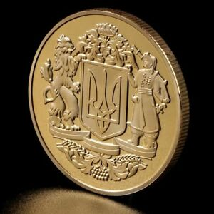 Commemorative Coin Ukrainian national emblem Collection Arts Gifts Souvenir