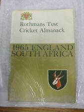 1965 Test Cricket: ROTHMANS Cricket ALMANACCO-Inghilterra V Sud Africa (scolorito/Mark