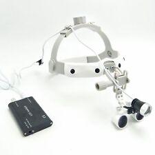 25x420mm Dental Binocular Loupe Surgical Headband Magnifierled Headlight