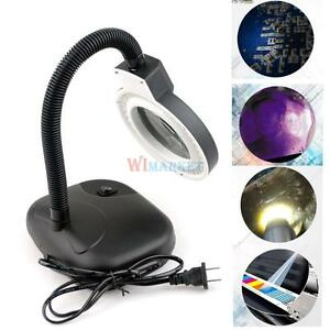 Adjustable 5x 10x Magnifying Desk Table Clamp Lamp