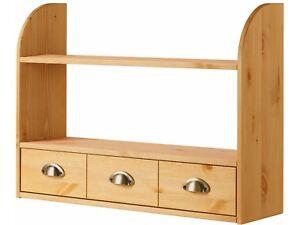 Details zu Hängeregal Wandregal Gewürzregal Küche Regal Landhaus Kiefer  Holz weiß braun