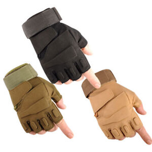 Tactical Military Half Finger Gloves Men/'s Hunting Shooting Combat Fingerless